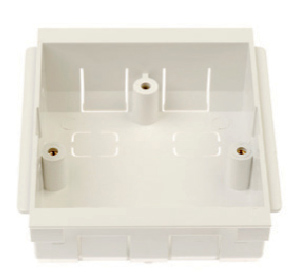 1 Gang White Plastic Dado Mounting Boxes