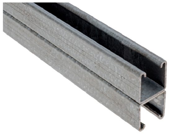 41x82mm Plain / Slotted Back to Back Channel - 6m