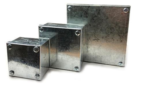 Galv & Black Enamel Adaptable Boxes