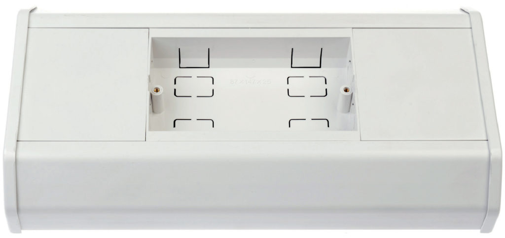 White Plastic 3 Comp Dado Trunking x 3m - (160mm x 50mm)
