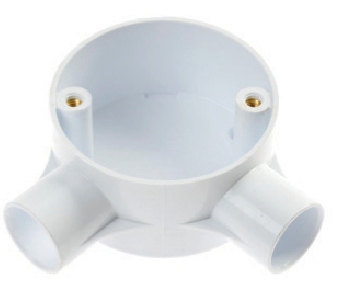 White Plastic Conduit Angle Boxes