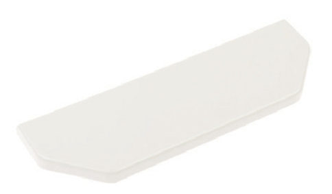 White Plastic Dado End Covers LH/RH