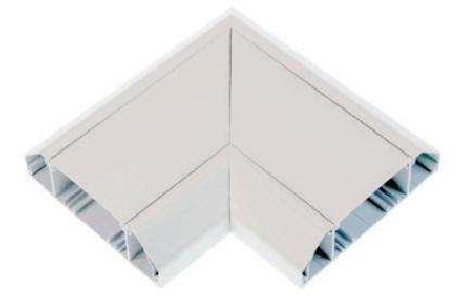 White Plastic Dado Flat Angle