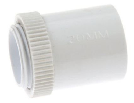 White Plastic Male Adapters