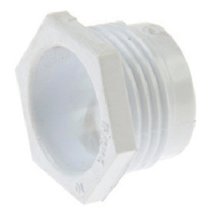 White Plastic Male Bushes