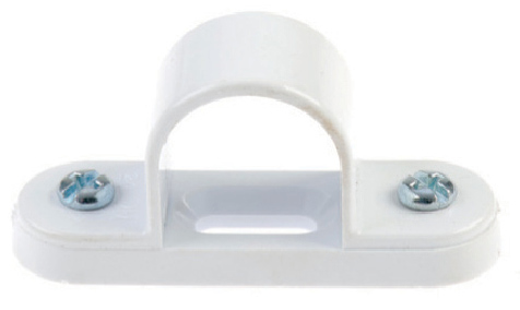 White Plastic Spacer Bar Saddles